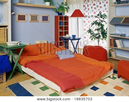 living room with can be bedroom for guest