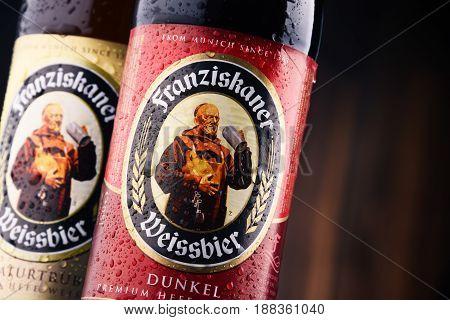 Bottles Of Franziskaner Weissbier