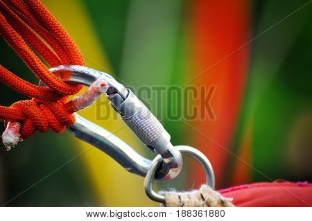 Carabiner On A Rope