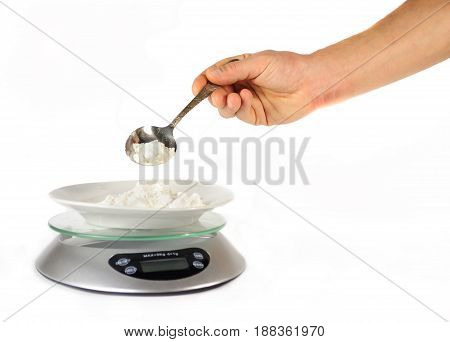 Hand Poured Flour Weighing Electronic Kitchen Scales