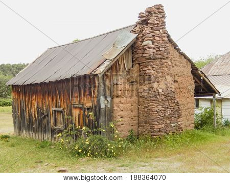 mud hut built in 1882 in Payson, Arizona to repel Indians