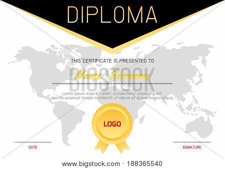 Certificate template with luxury and modern pattern,Diploma certificate pattern design template,,diploma,Vector illustration