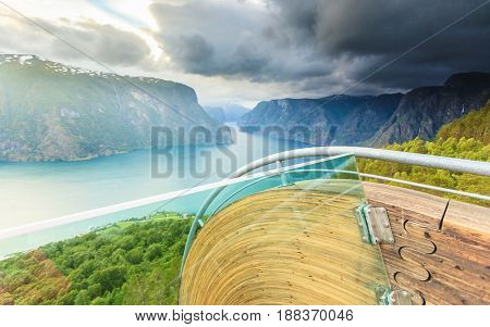 Fjord And Stegastein Lookout In Norway