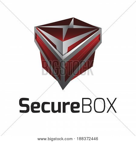 Logo Vector Secure Box. Logo template for your business