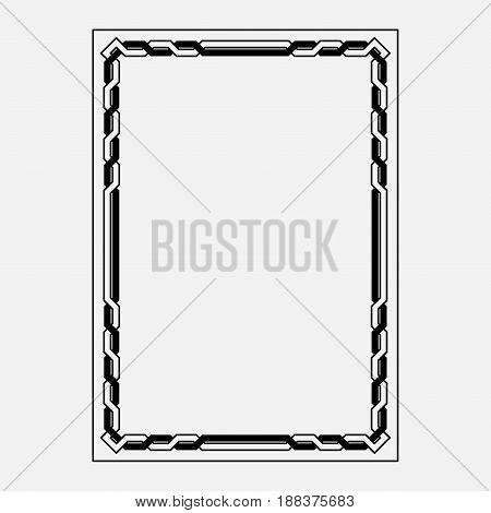 vector image, decorative ornamental frame, original design