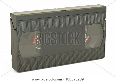 Videotape closeup 3D rendering isolated on white background