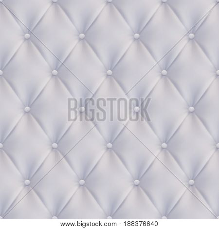 quilted Upholstery leather Seamless White vector background