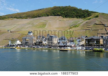 City View from Bernkastel-Kues at the Moselle River