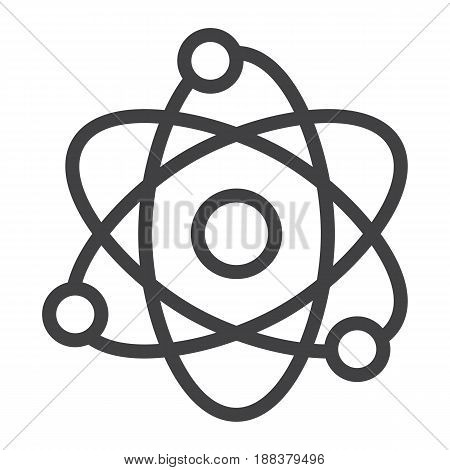 Atom line icon, Education and physics, vector graphics, a linear pattern on a white background, eps 10.
