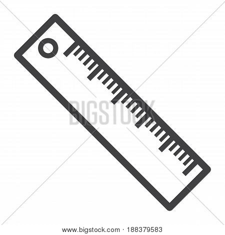 Ruler line icon, Education and school, vector graphics, a linear pattern on a white background, eps 10.