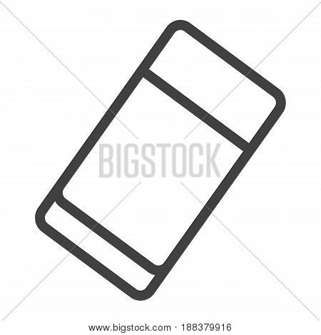 Eraser line icon, education and school, rubber vector graphics, a linear pattern on a white background, eps 10.