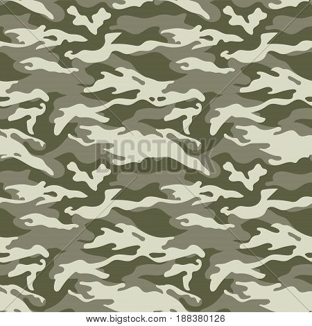 Seamless camouflage pattern. Woodland style. Vector illustration for web and print. EPS10
