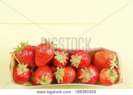 Fresh Strawberries With Copy Space