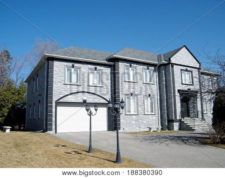 Gray house in Thornhill Canada March 16 2010