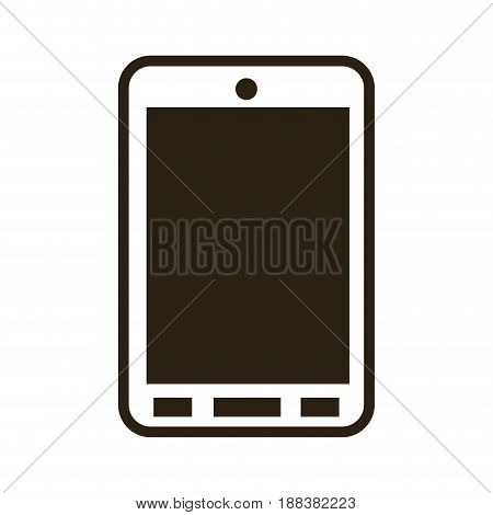 cartoon smartphone technology communication call vector illustration