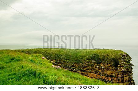 View on cliff landscape in the north of Scotland