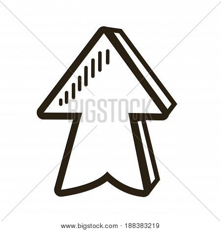 direction arrow up abstract icon isolated vector illustration