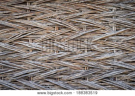 Background, Texture Of Wicker Dry Branches, On The Whole Frame. Horizontal Frame