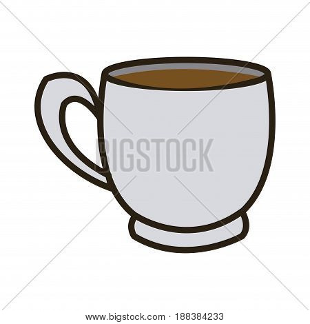 cartoon coffee cup beverage fresh icon vector illustration