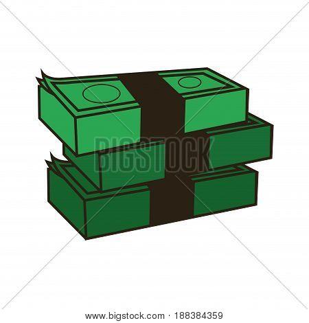 stack of money, abundance bank business vector illustration