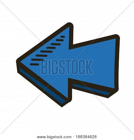 blue direction arrow up abstract icon isolated vector illustration