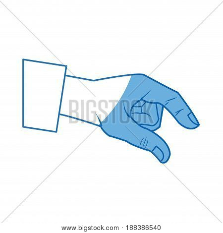 hand business put coin banking conept vector illustration