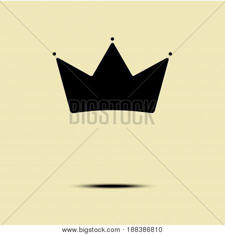 Geometric Vintage Crown abstract minimalism Logo design vector template. Vintage Crown Logo Royal King Queen symbol Logotype concept icon.