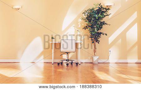Workstation Desk In A Large Room