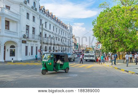 KANDY SRI LANKA - NOVEMBER 28 2016: One moment from the life of the city on November 28 in Kandy