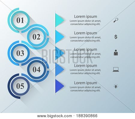 Business Infographics origami style Vector illustration. Marketing icon