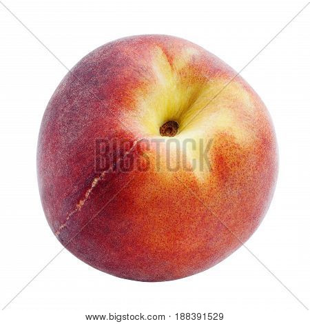 Peach isolated on white background with clipping path