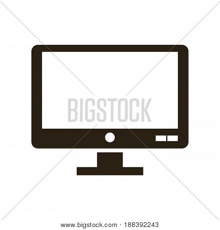 screen monitor computer device technology vector illustration