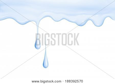 Cosmetic cream drips isolated on white background