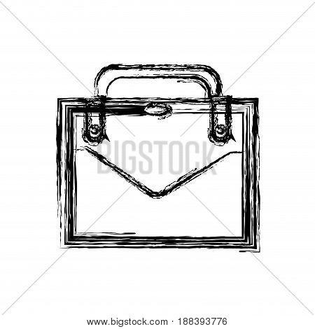 business suitcase portfolio elegant acessory image vector illustration