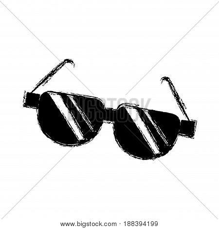 cartoon sunglasses acessory fashion optical image vector illustration