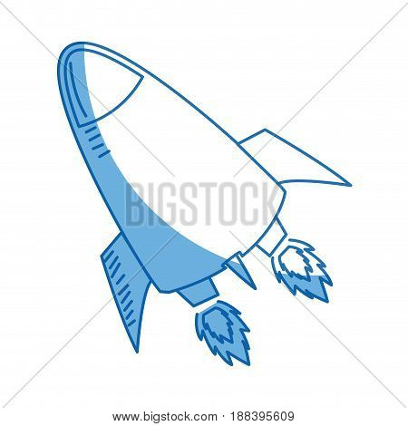 rocket launch. rocket ship business launch product vector illustration