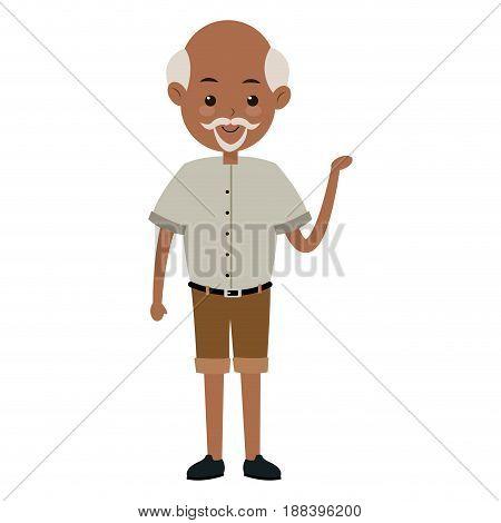 cartoon man male parent family adult member vector illustration