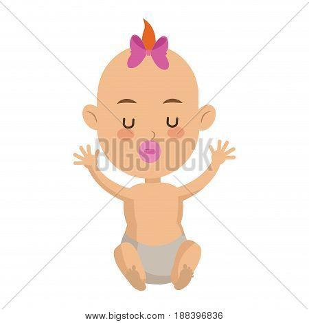 cute baby child newborn family member vector illustration