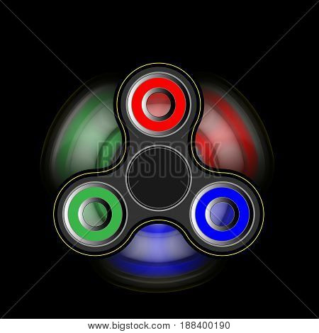 spinner on the move - toy moving for stress relief and attention enhancement. illustration