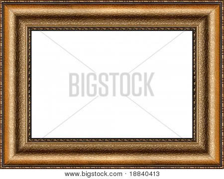 Antique wooden frame with guilded pattern