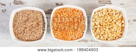 Ingredients Containing Vitamin B6 And Dietary Fiber, Healthy Nutrition Concept