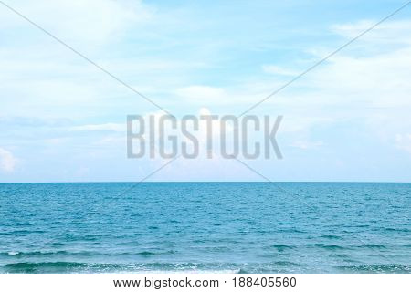 Sea beach in summer at tropical island background holiday vacation background