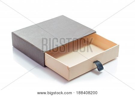 small paper box on a white background. isolated.