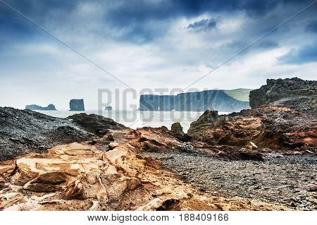 Beautiful Rocky Coast Of Atlantic Ocean.