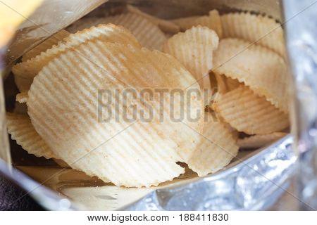 Delicious Potato fried In a plastic bag