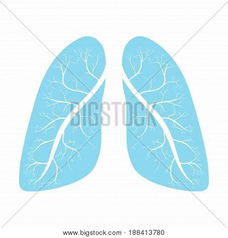 Lungs. Human lungs anatomy symbol. Vector illustration