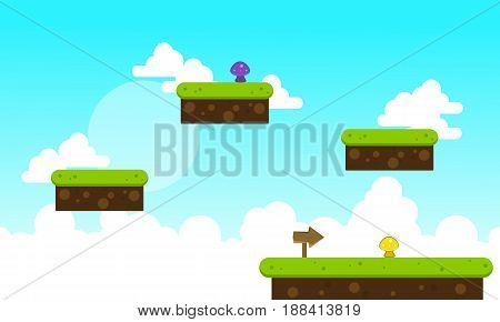 Collection stock cloud game background vector art