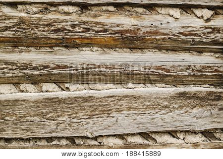 Old Wood Texture Clay Wall Background
