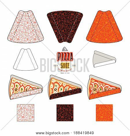 Stock Vector Design Of Package For Pizza Slices