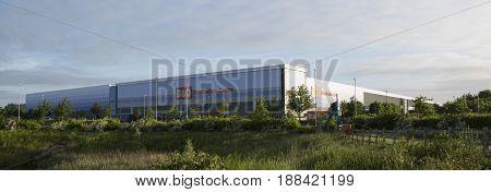 Swindon UK - MAY 1 2017: B&Q distribution centre G Park industrial estate Swindon England UK